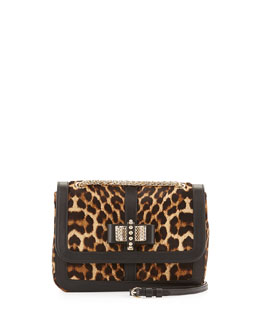 Christian Louboutin Sweet Charity Small Calf Hair Shoulder Bag, Leopard