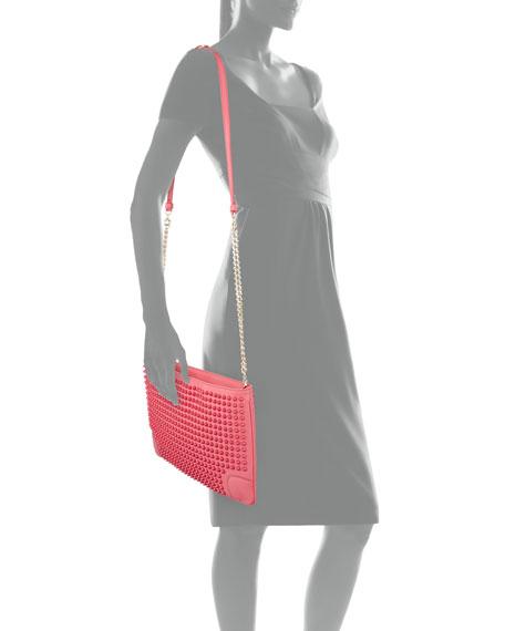 Loubiposh Spikes Clutch Bag, Pink