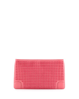 Christian Louboutin Loubiposh Spikes Clutch Bag, Pink