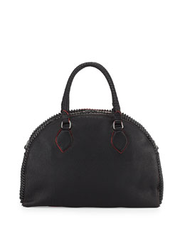 Christian Louboutin Panettone Large Spiked Satchel Bag, Black