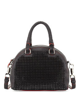 Christian Louboutin Panettone Small Spiked Satchel Bag, Black