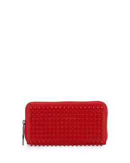 Christian Louboutin Panettone Spiked Zip Wallet, Red