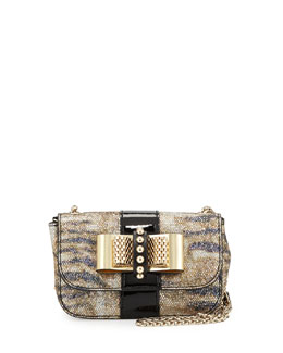 Christian Louboutin Sweet Charity Small Glitter Crossbody Bag, Black