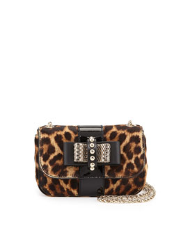 Christian Louboutin Sweet Charity Leopard-Print Calf Hair Mini Shoulder Bag