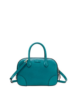Gucci Bright Diamante Small Leather Bag, Turquoise