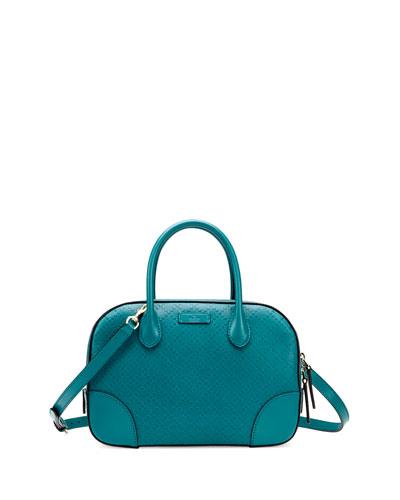 Gucci Bright Diamante Small Leather Bag, Turquoise