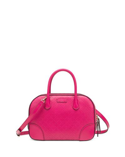 Gucci Bright Diamante Small Leather Bag, Fuchsia