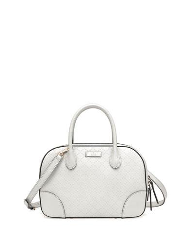 Gucci Bright Diamante Small Leather Bag, White