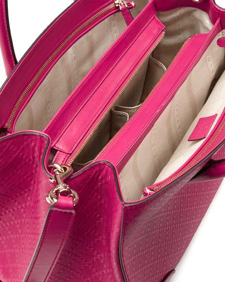 Bright Diamante Medium Bag, Fuchsia
