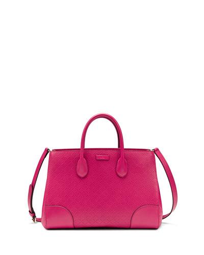 Gucci Bright Diamante Medium Bag, Fuchsia