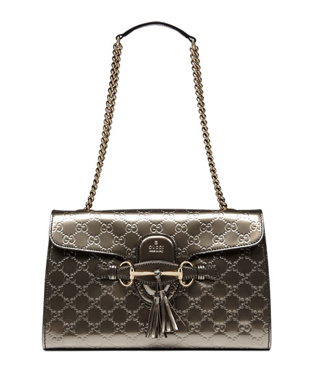 16db1b9bb9b81c Gucci Emily Guccissima Leather Shoulder Bag | Stanford Center for ...
