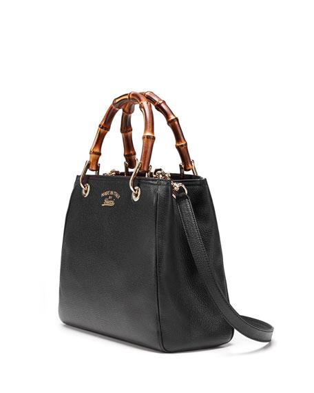 gucci bamboo small shopper tote bag black. Black Bedroom Furniture Sets. Home Design Ideas