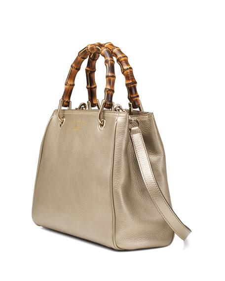 gucci bamboo small shopper tote bag golden. Black Bedroom Furniture Sets. Home Design Ideas