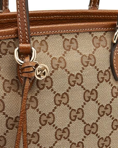 Bree Small GG Canvas Tote Bag, Brown
