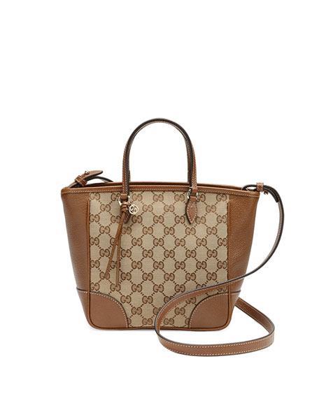Gucci Bree Small GG Canvas Tote Bag, Brown