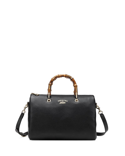 fb893d23bddd Gucci Bamboo Shopper Medium Boston Bag, Black Buy - JoanneHernandez ...