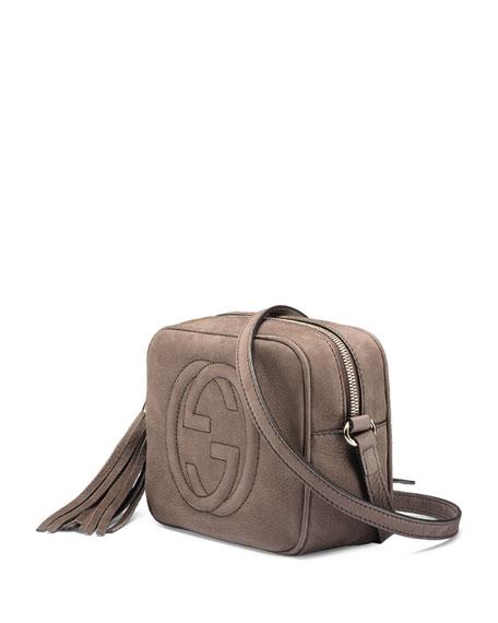 Gucci Soho Nubuck Leather Disco Bag, Gray