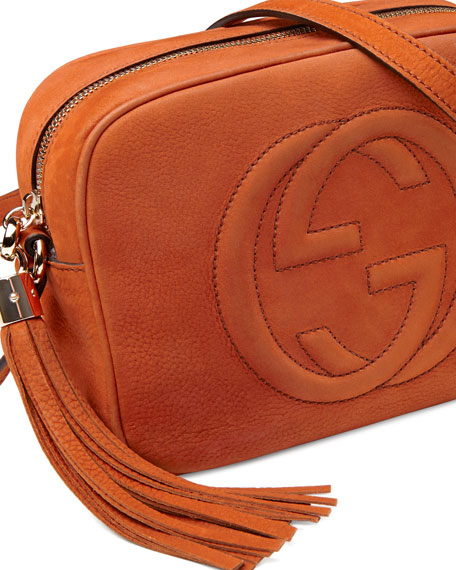 Soho Nubuck Leather Disco Bag, Orange