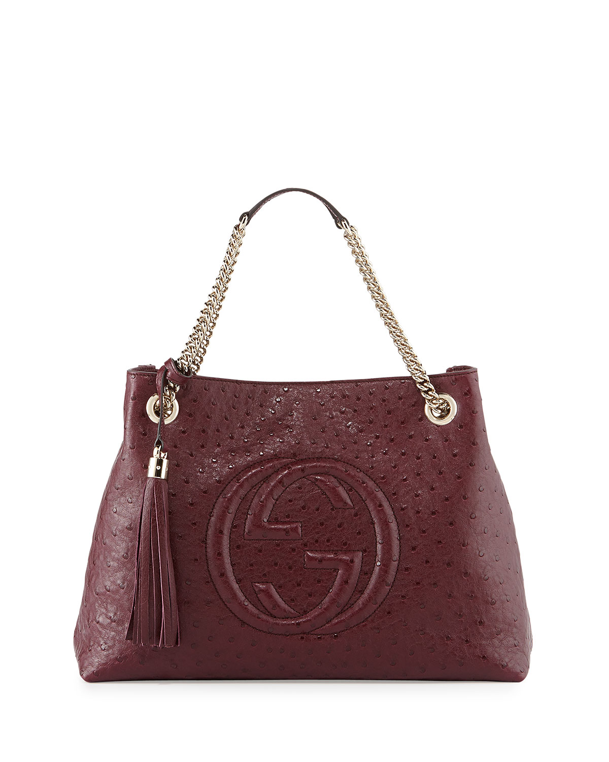 Gucci Soho Ostrich Shoulder Bag d5b202834f3cf