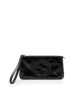 Gucci Soho Soft Patent Leather Wristlet