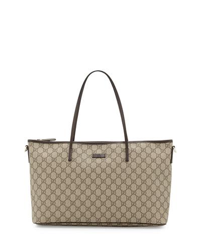 Gucci Joy GG Supreme Canvas Tote Bag, Brown