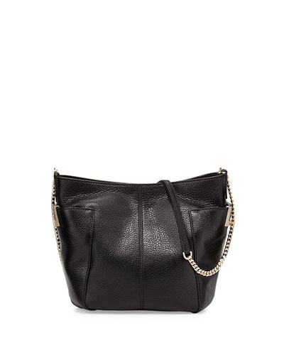 Anabel Leather Crossbody Bag, Black