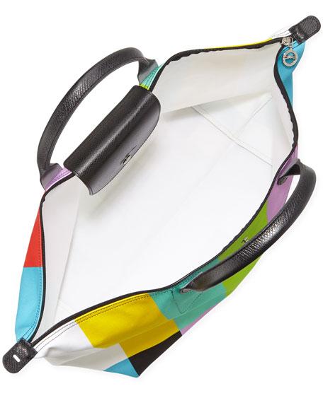 Le Pliage Color Bar Canvas Travel Bag