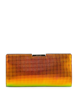 Milly Crosby Holographic Framed Clutch Bag, Orange