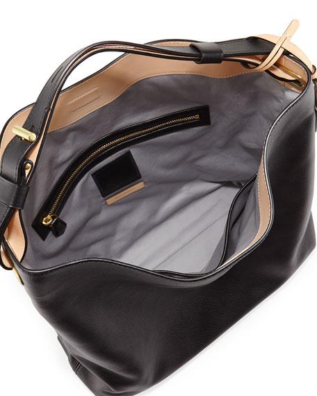 Reed Krakoff RDK Leather Hobo Bag, Black