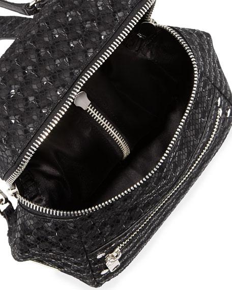 Bowery Snake-Print Hologram Backpack, Black