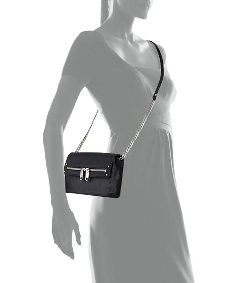 Riley Leather Mini Bag, Black