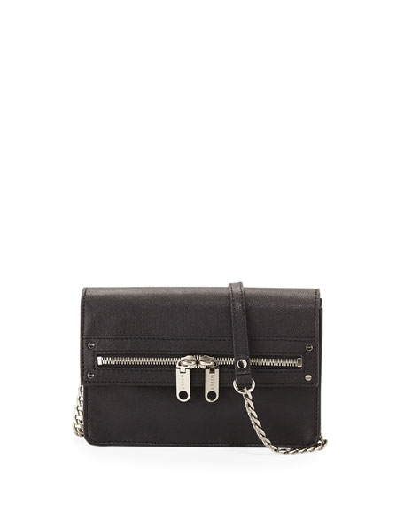 Riley Leather Mini Bag, Black