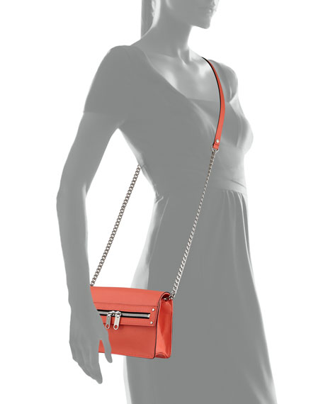 Riley Mini Crossbody Bag, Neon Peach