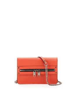 Milly Riley Mini Crossbody Bag, Neon Peach