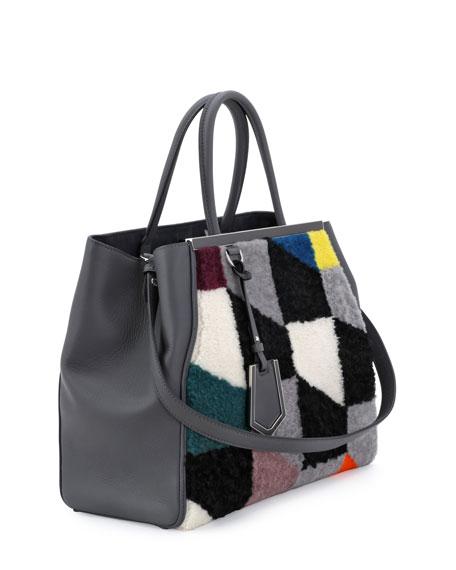 2Jours Shearling Tote Bag, Gray
