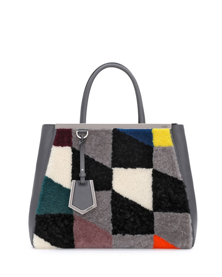2Jours Shearling Tote Bag, Gray