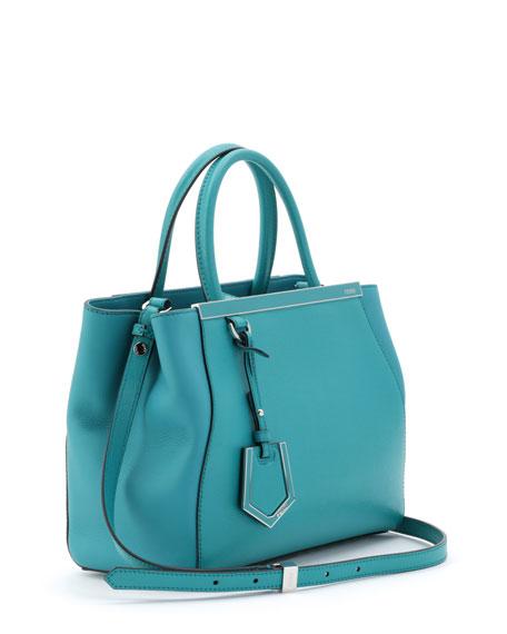 Fendi 2Jours Petite Satchel Bag, Aqua