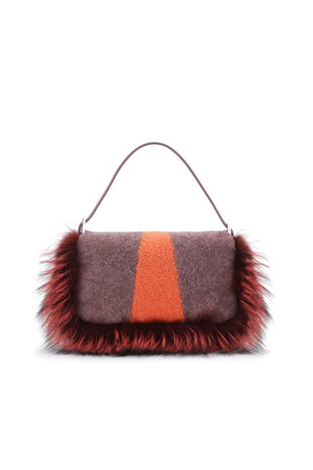 ac37d5d0cf Baguette Shearling Fur Monster Bag Purple Multi