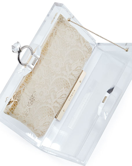 Pandora Marry Me Box Clutch, Clear