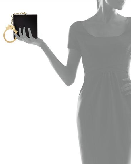 Handcuff Box Clutch Bag, Black