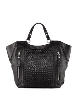 Oryany Aquarius Leather Shoulder Bag, Black