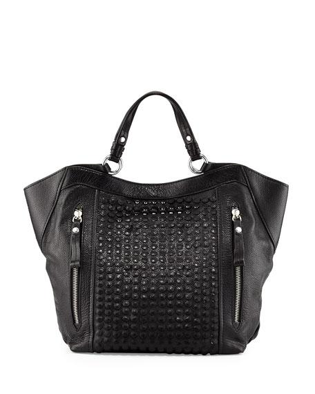 Aquarius Leather Shoulder Bag, Black