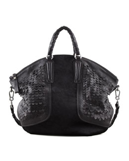 Oryany Sierra Convertible Calf Hair Satchel, Black