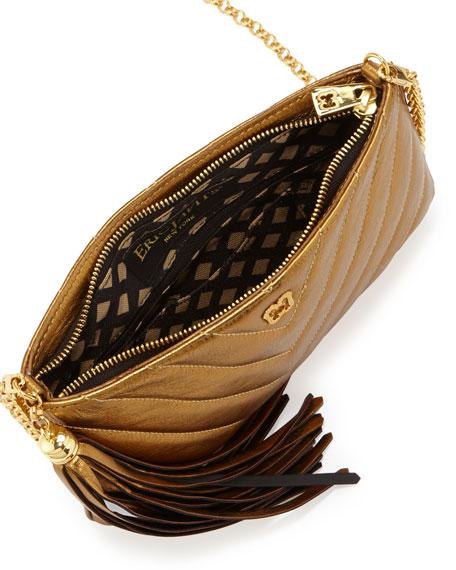 Mimi Metallic Tassel Clutch Bag, Bronze