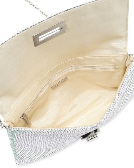 Blake Metal Mesh Clutch Bag, Pearl