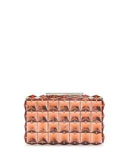 BCBGMAXAZRIA Lulu Square Crystal Clutch Bag, Pink Rose