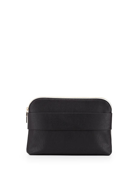 Dream Boat Faux-Leather Clutch Bag, Black
