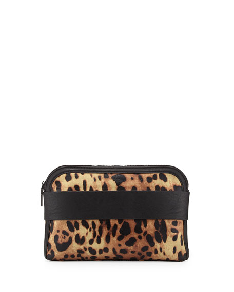 Dream Boat Leopard Print Clutch Bag