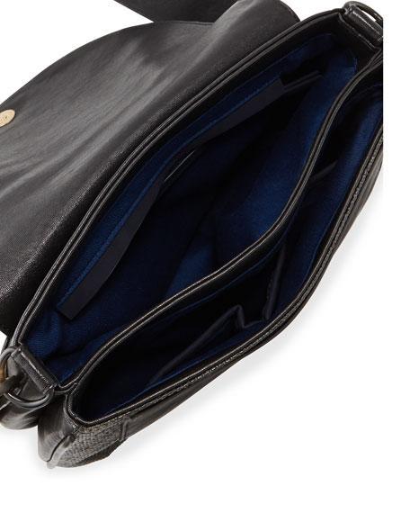 Mod Squad Faux Leather Shoulder Bag, Black
