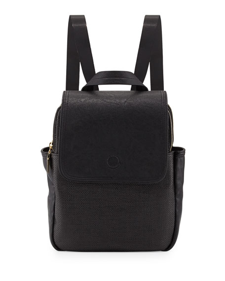 Mod Squad Faux-Leather Backpack, Black